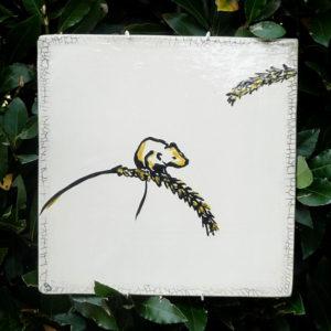 Rat des moissons (tableau céramique, 25x25 cm)