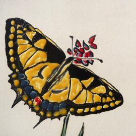 Nouveau tableau : papillon Machaon