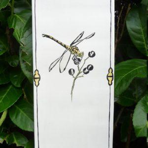 Gomphe à crochets (tableaucéramique, 14x38 cm, 110€)