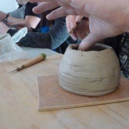 Atelier modelage au colombin