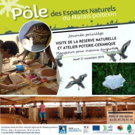 Journée observation d'oiseaux + atelier mangeoires à St-Denis-du-Payré